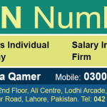 NTN Number Registration Pakistan